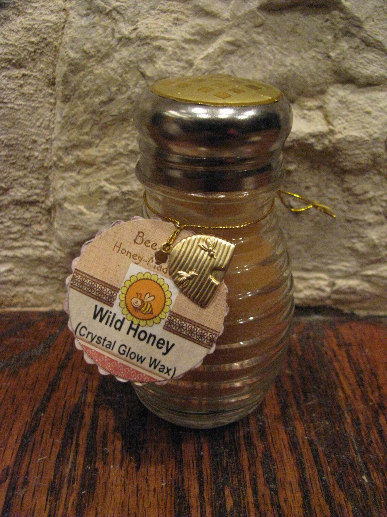 1 each HANDCRAFTED Triple Highly Scented Candle in RARE 3.5 oz Honey Beehive Jar Your Choice of Wax and Scent